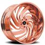 "26"" Artis Forged Wheels Fillmore Rose Gold Rims"
