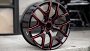 """22"""" Chevy Truck Snowflake Wheels Gloss Black with Red Accents OEM Replica Rims"""