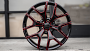 """24"""" Chevy Truck Snowflake Wheels Gloss Black with Red Accents OEM Replica Rims"""