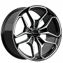 "20"" Staggered Giovanna Wheels Huraneo Gloss Black with Machined Face Rims"