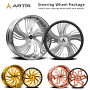 """22"""" Artis Forged Wheels Pueblo Brushed Rims"""