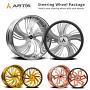 "20"" Staggered Artis Forged Wheels Medusa Brushed Rims"