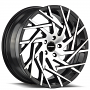"22"" Strada Wheels Nido Gloss Black Machined Rims"