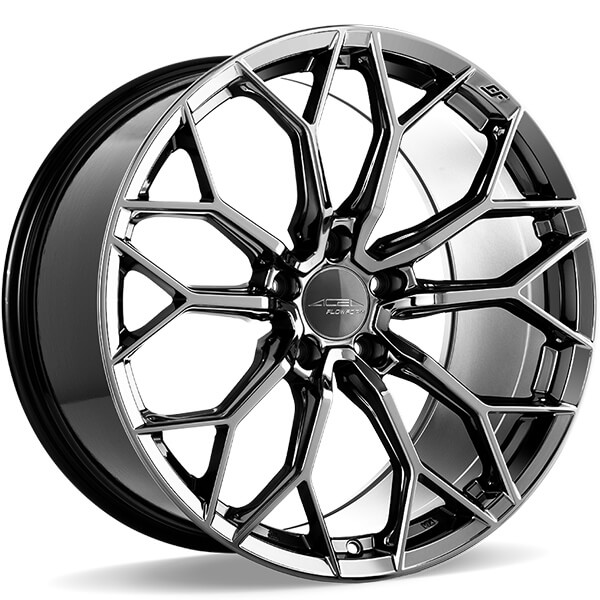 20 Staggered Ace Alloy Wheels Aff09 Black Chrome Flow Formed Rims Ace081 2