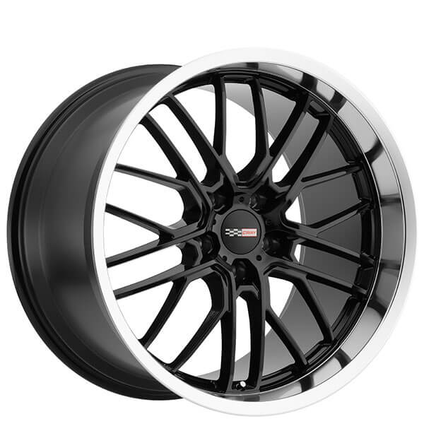 "20"" Staggered Cray Wheels Eagle Gloss Black with Mirror Lip Rims"