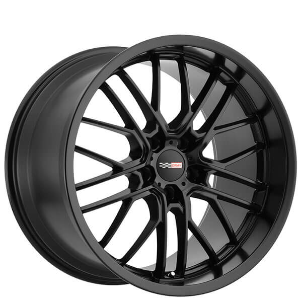 """20"""" Staggered Cray Wheels Eagle Matte Black Rims"""