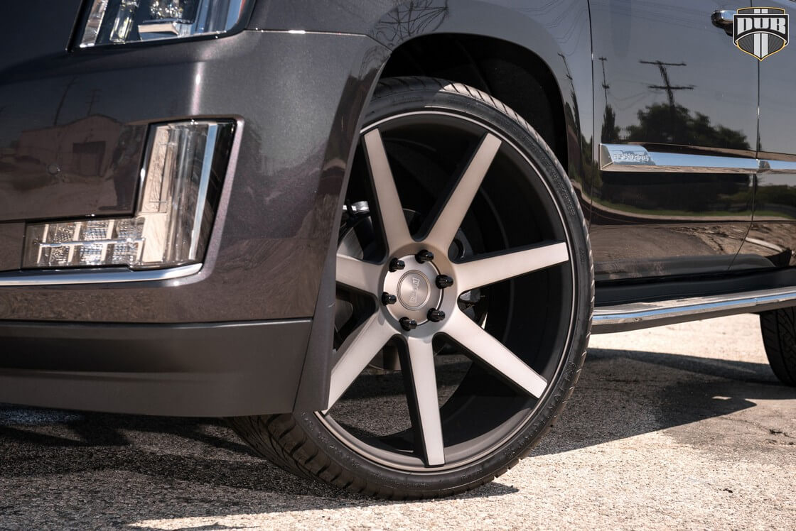 24 Quot Dub Wheels Future S127 Black Machined With Dark Tint