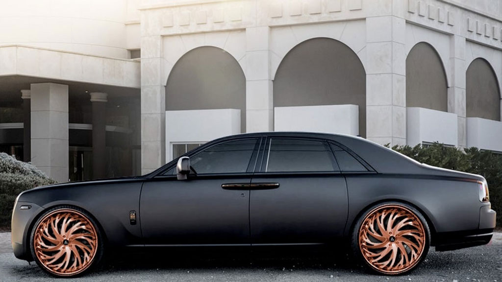 "24"" Artis Forged Wheels Decatur Rose Gold Rims"