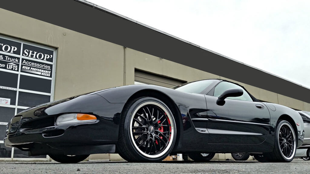 """19/20"""" Staggered Cray Wheels Eagle Gloss Black with Mirror Lip Rims"""