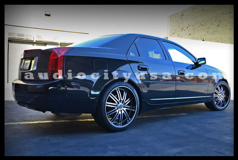 "20"" Versante Wheels VE212 Black Machined Rims"