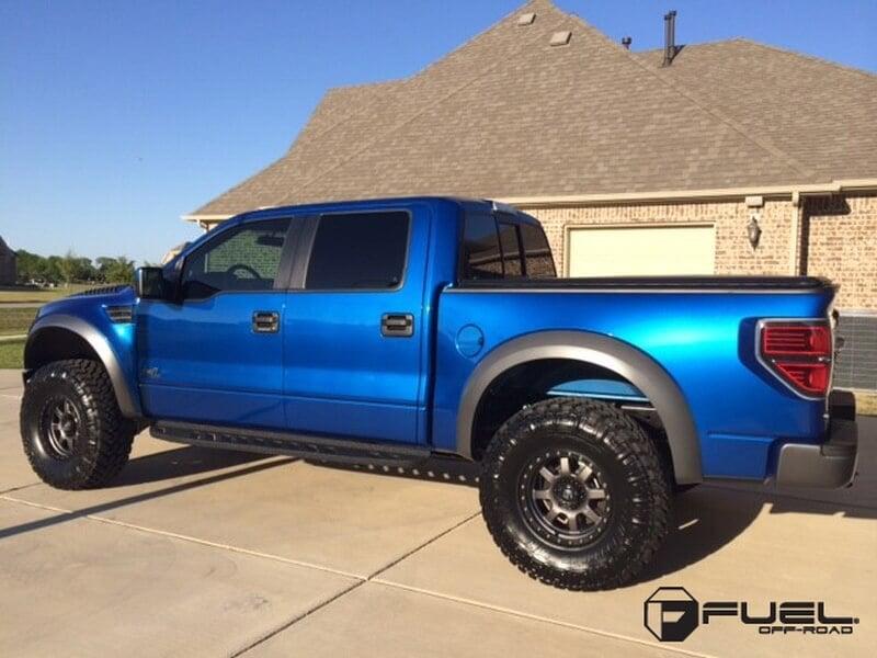 17 quot fuel wheels d552 trophy gun metal rims fl036 1
