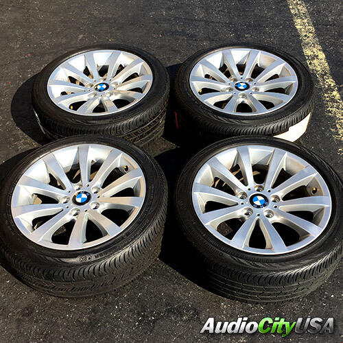 17 2011 BMW 3 Series SILVER FACTORY OEM WHEELS RIMS AND TIRES PKG