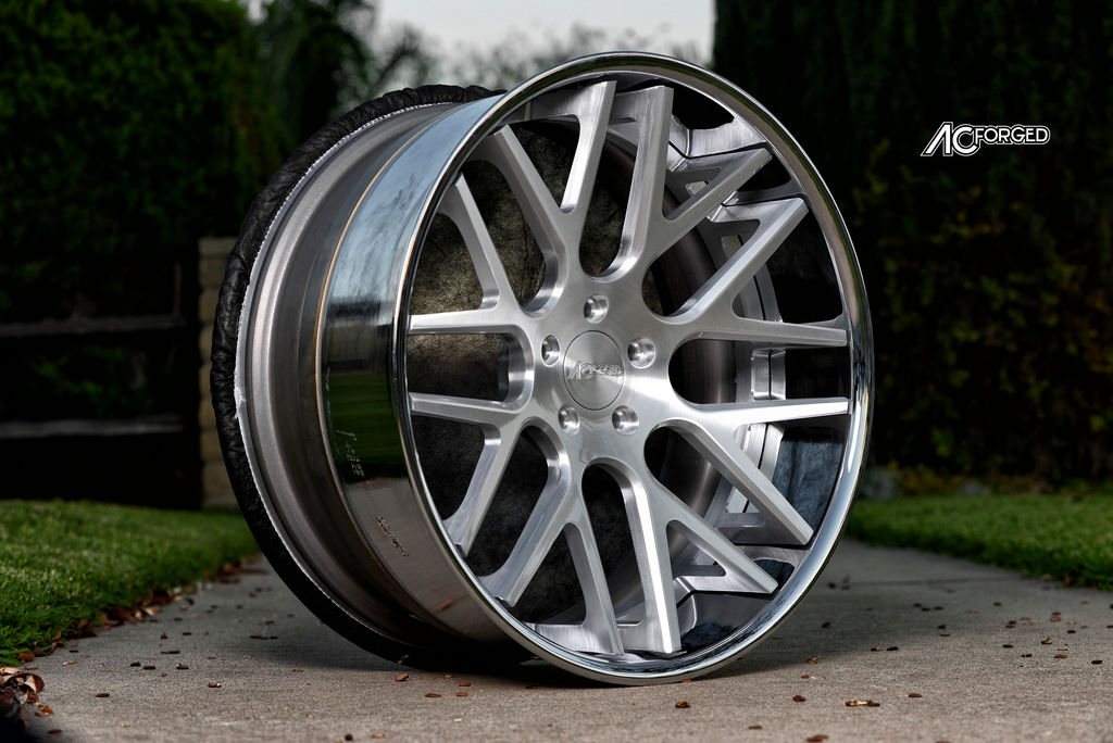 ac forged wheels. ac forged 413 concave series silver face chrome lip brush wheels, ac wheels p