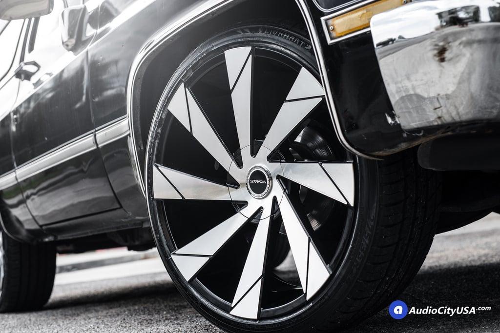 Chevy K Blazer Strada Moto Wheels Rims Black Machine on 1994 Chevrolet S10 Blazer