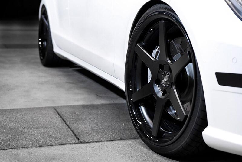 "Honda Factory Rims >> 22"" Staggered Concept One Wheels CS-6 Concave Matte Black ..."