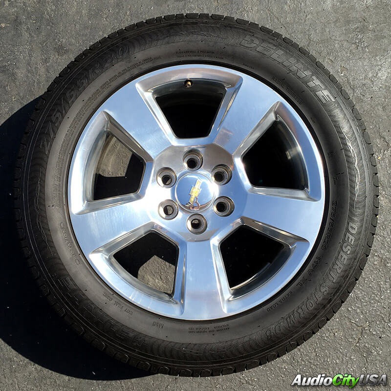 """20"""" CHEVY TAHOE SILVER FACTORY OEM WHEELS RIMS AND TIRES ..."""