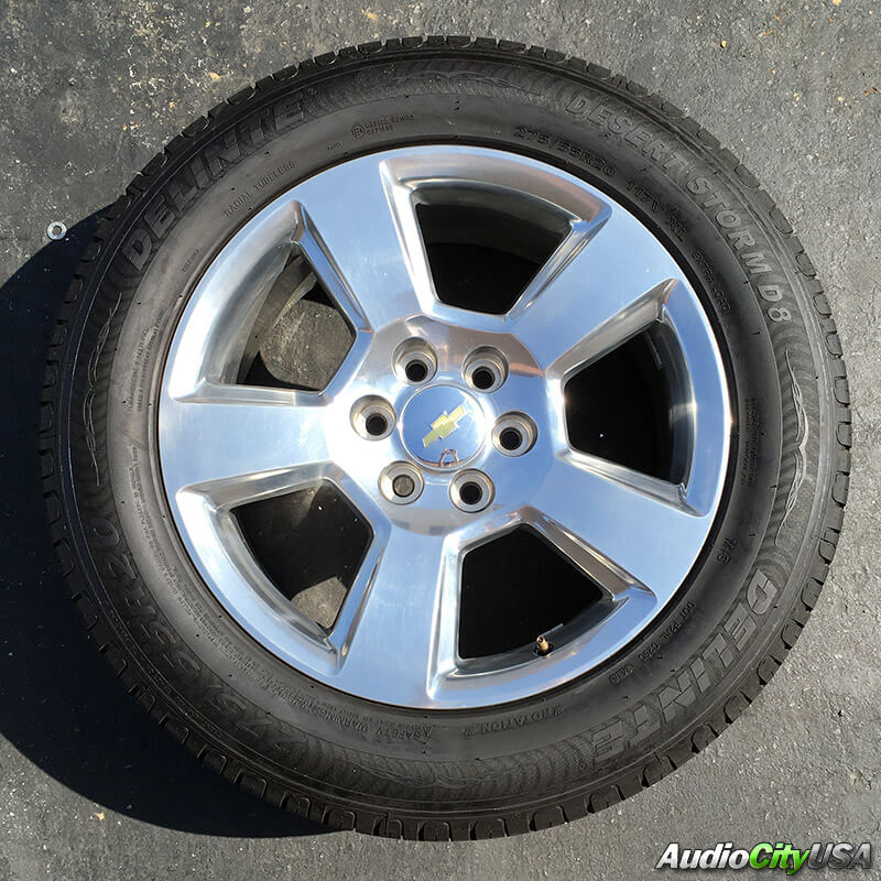 """Chevy Tahoe Stock Rims 20"""" CHEVY TAHOE SILVER FACTORY OEM WHEELS RIMS AND TIRES ..."""