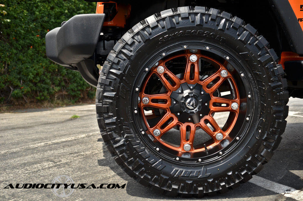 """2013 Jeep Wrangler Sport 20x9"""" Wheels+Tires+Suspension Package Deal"""