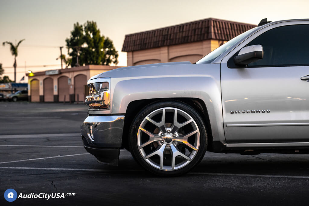 "24"" 2014 GMC Sierra Wheels Silver Machine OEM Replica Rims ..."