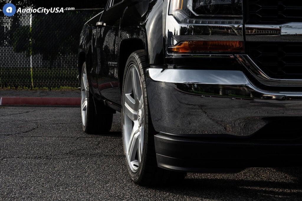 22 Quot Chevy Silverado Suburban Wheels Texas Edition Silver