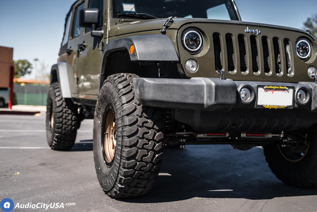 Jeep Wrangler Wheels >> 07 18 Jeep Wrangler 17x8 5 Wheels Tires Suspension Package Deal