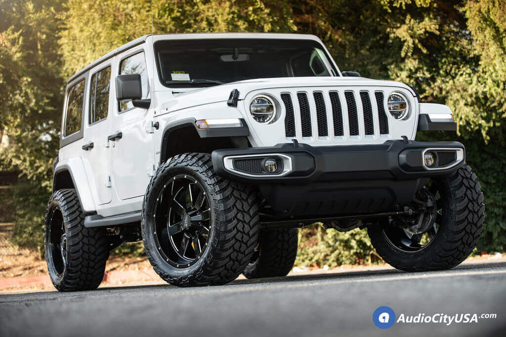 "2018 Jeep Wrangler JL Unlimited 22x10"" Wheels+Tires+Suspension Package Deal"
