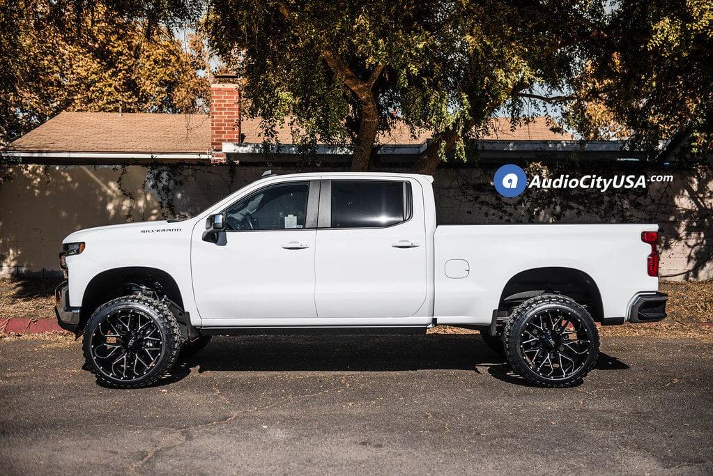 """2019 Chevrolet Silverado 1500 24x14"""" Wheels+Tires+Suspension Package Deal"""