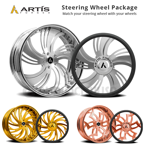 """20"""" Staggered Artis Forged Wheels Sincity Brushed Rims"""