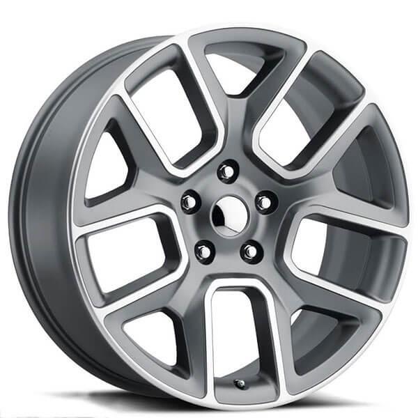22 Quot Dodge Ram 1500 Wheels Fr 76 Grey Machined Face Oem