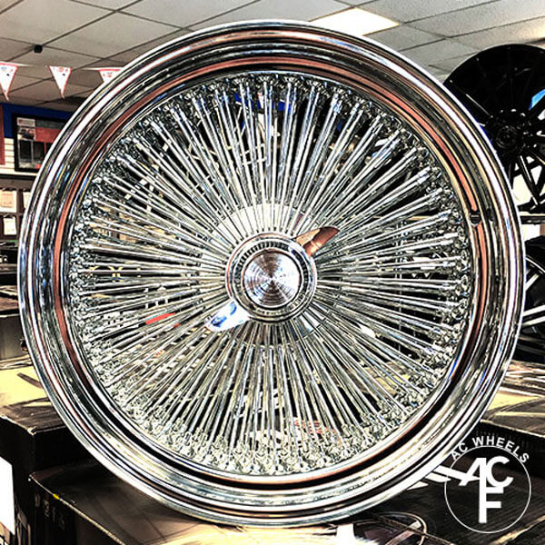 Wire Wheels Standard 150-Spoke Straight Lace Chrome Rims