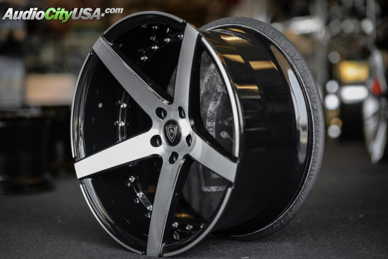 20 Quot Staggered Mq Wheels 3226 Black W Brush Face Extreme