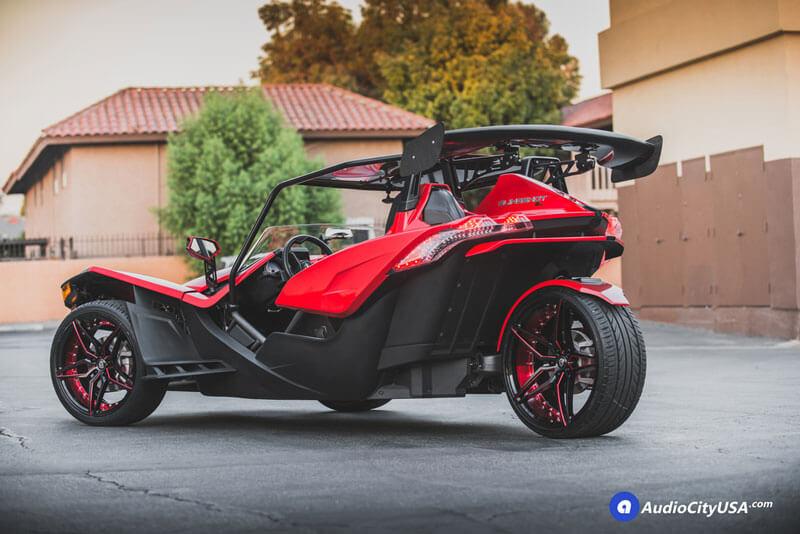 Polaris Slingshot X X Mq Wheels Marquee Gloss Black Red Audiocityusa on Nissan Lift Parts