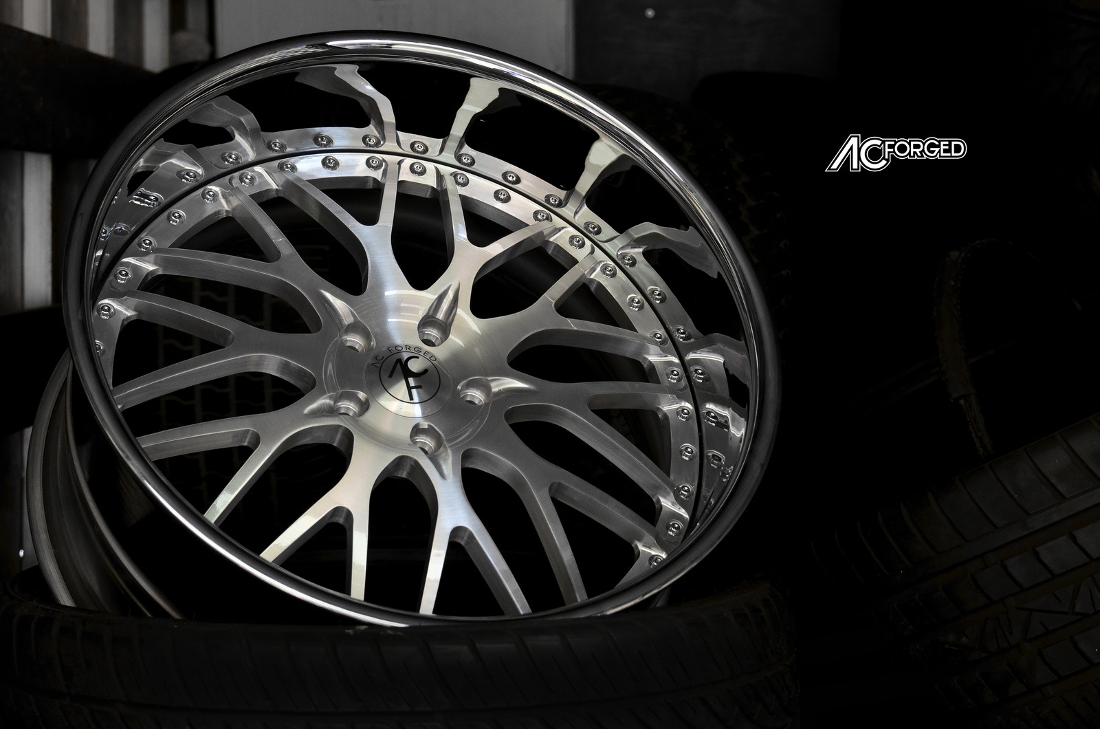 24 wheels chrome -  Ac Forged 313 Brush Face Chrome Lip 3 Piece Forged