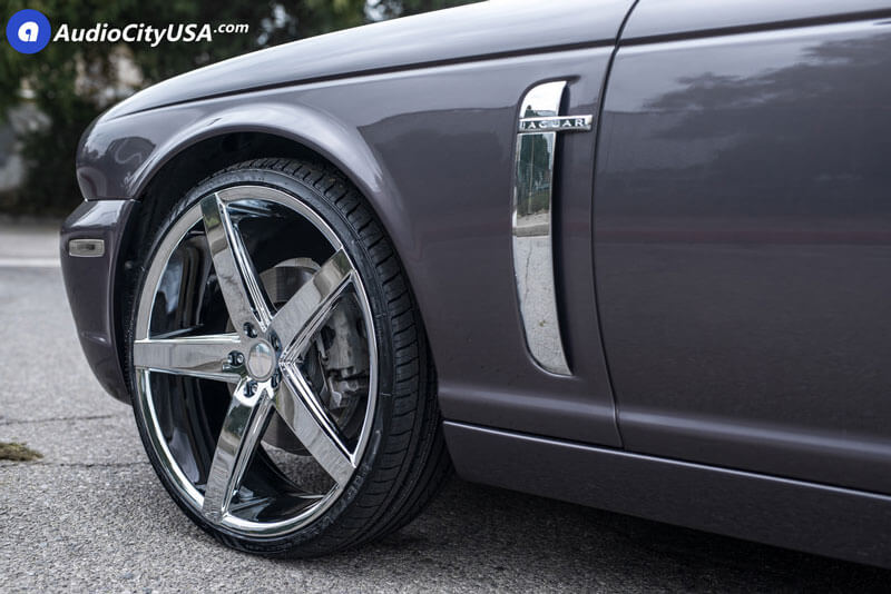 """22"""" Staggered Paragon Wheels Rosso Affinity Chrome Rims # ..."""