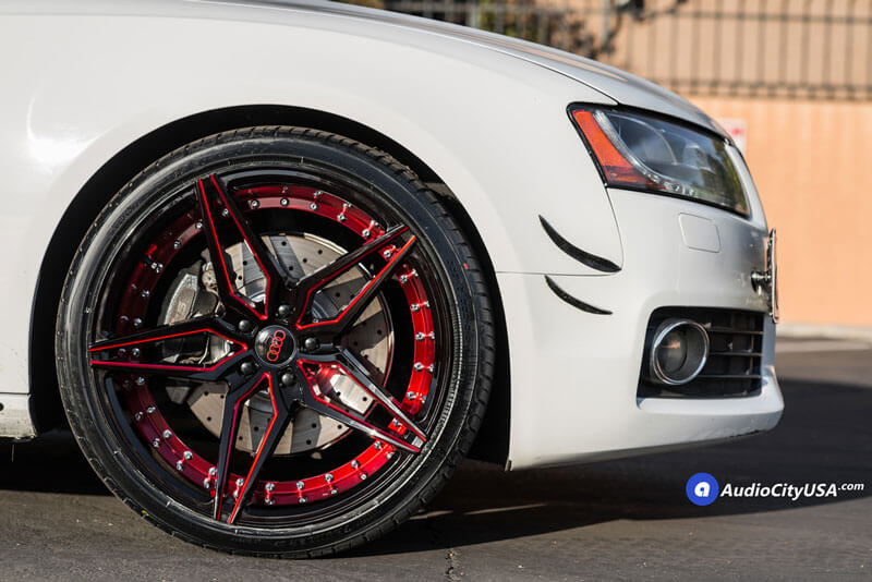"20"" Staggered Marquee Wheels 3259 Black Red Inner Extreme ..."