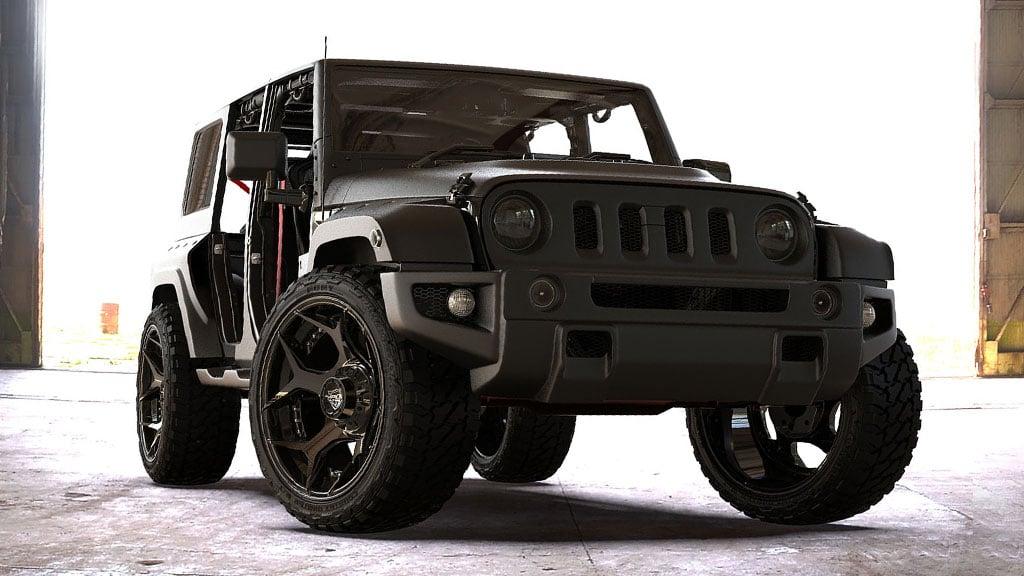"22"" 4Play Wheels 4P50 Brushed Black Off-Road Rims"