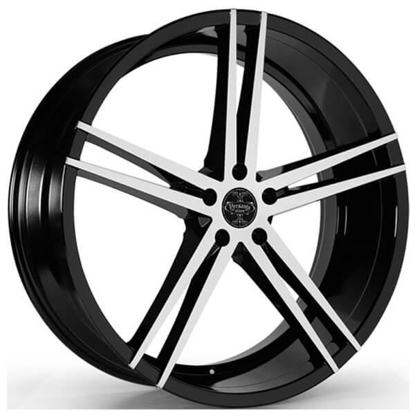 "24"" Versante Wheels VE238 Black Machined 5-Lug Rims"