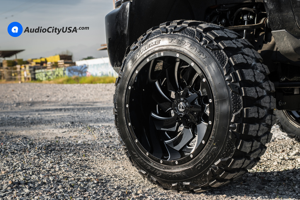 """24"""" Fuel Wheels D239 Cleaver Gloss Black Milled Two Piece"""