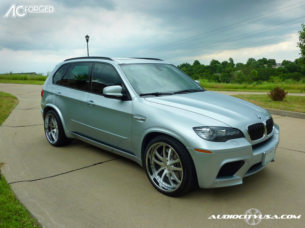 22 ac forged 312 wheels brush face chrome lip on 2010 bmw x5