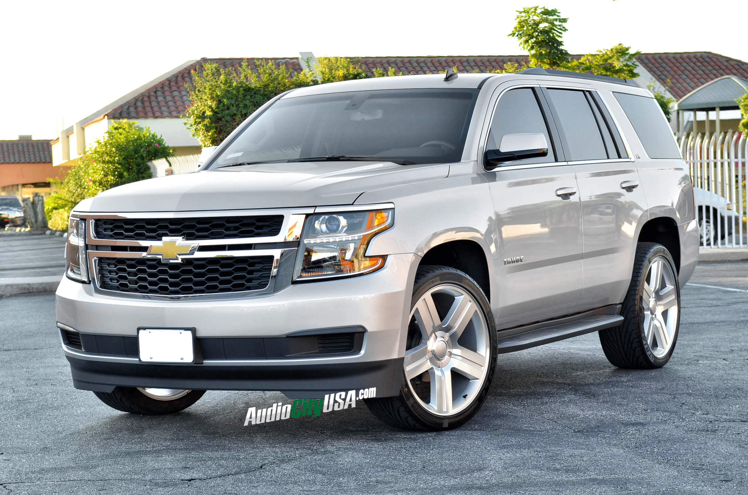 24 texas edition wheels silver machine on 2014 chevy tahoe
