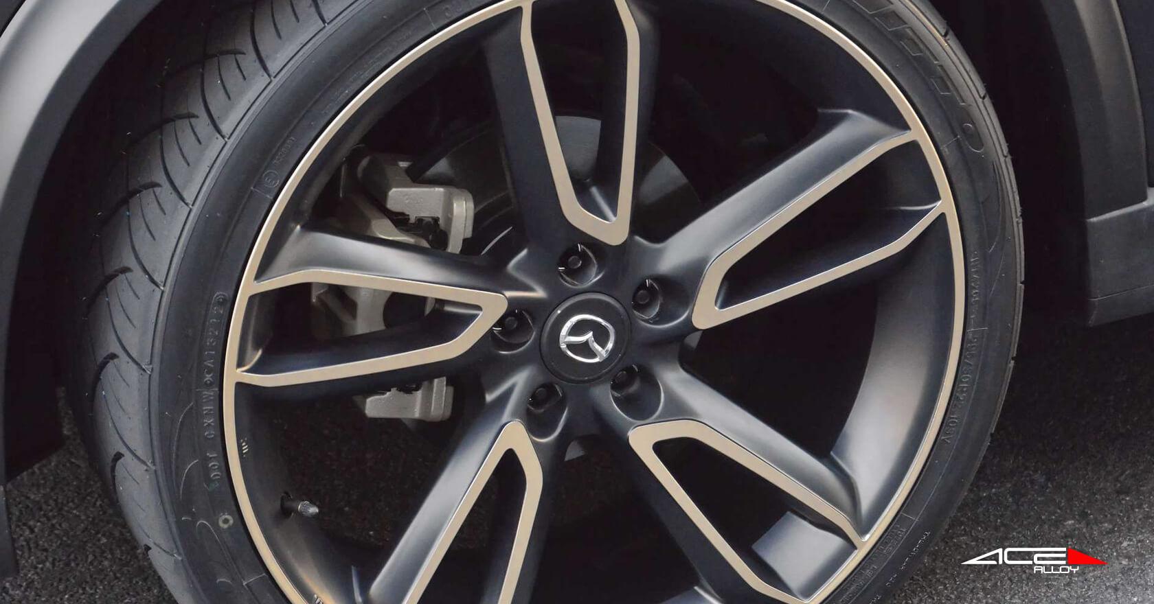 "22"" Ace Wheels Scorpio Matte Black Machined Face Rims # ..."