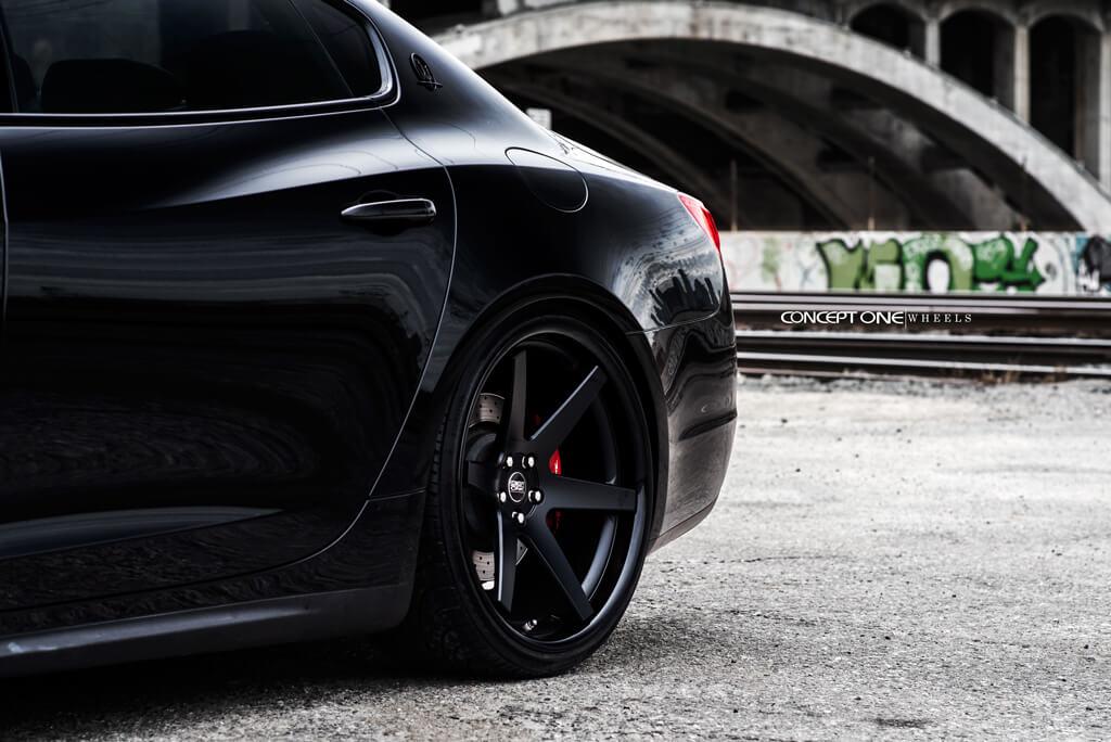 """22"""" Concept One Wheels CS-6 Concave Matte Black Rims #ONE004-3"""