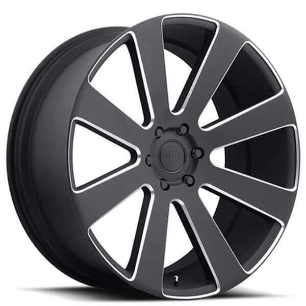 "24"" Dub Wheels 8 Ball S187 Black Milled Rims"