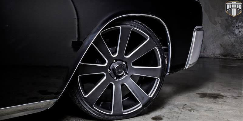 "26"" Dub Wheels 8 Ball S187 Black Milled Rims"