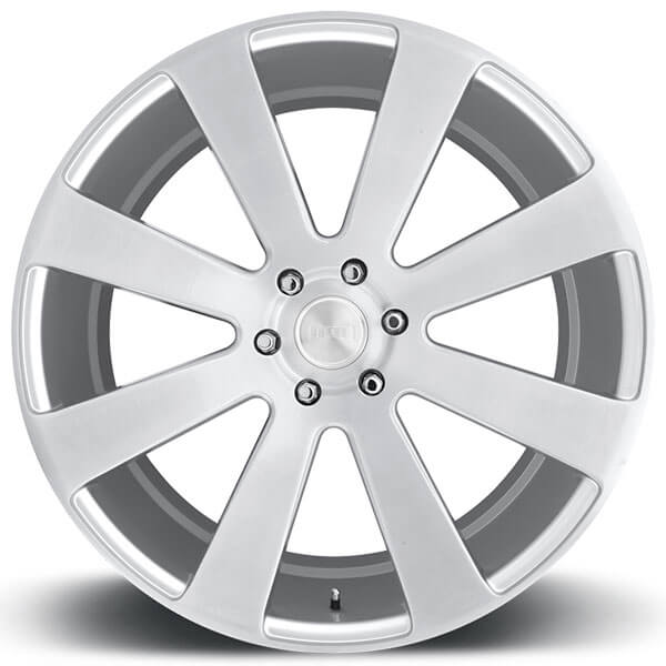 "22"" Dub Wheels 8 Ball S213 Brushed Silver Rims"