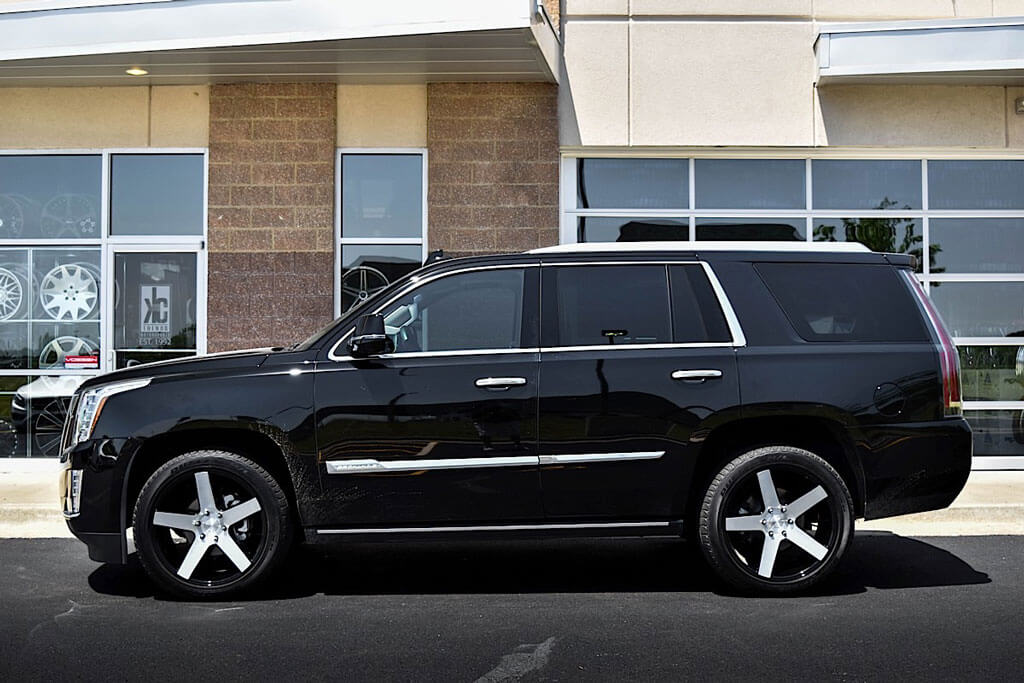 """24"""" Dub Wheels Baller S217 Gloss Black with Brushed Face Rims"""