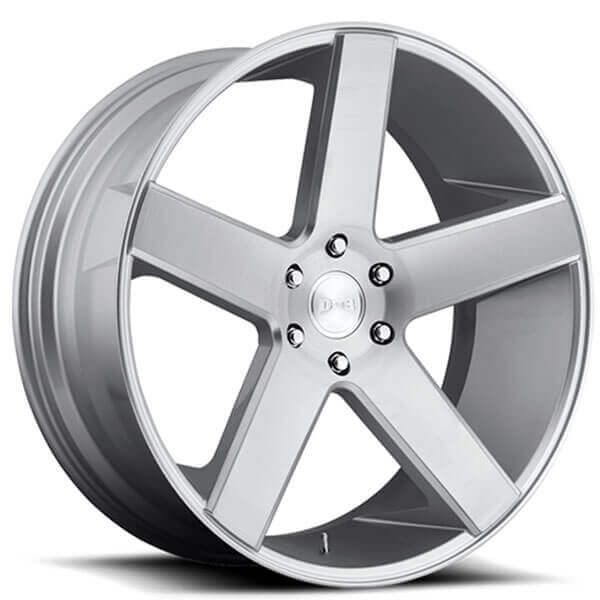 "24"" Dub Wheels Baller S218 Brushed Silver Rims"