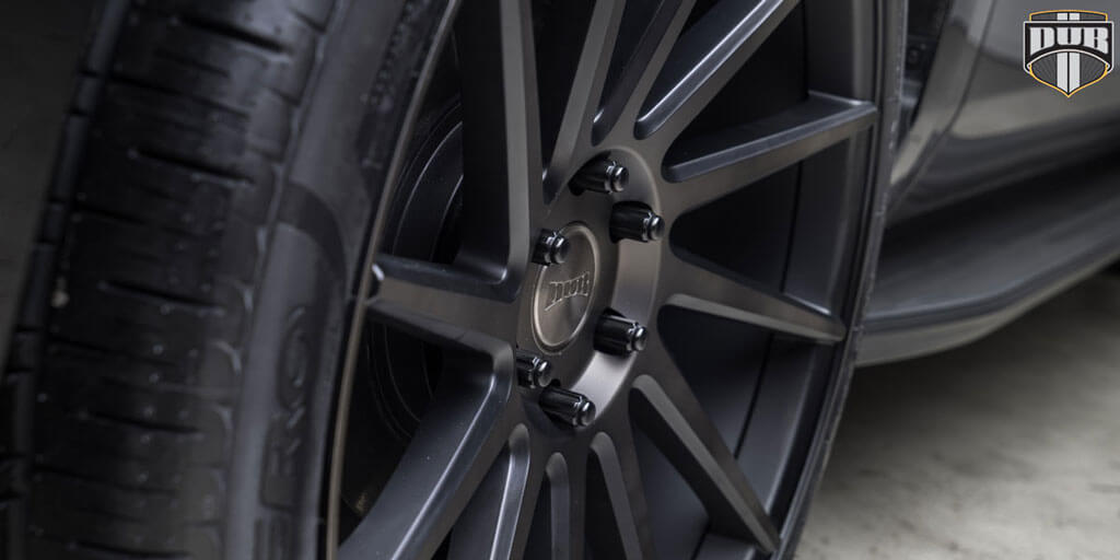 "24"" Dub Wheels Chedda S128 Black Machined with Dark Tint ..."