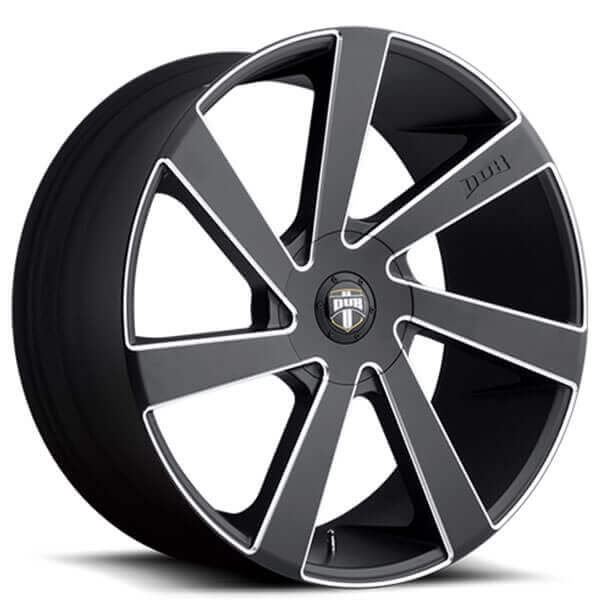 "24"" Dub Wheels Directa S133 Black Milled Rims"
