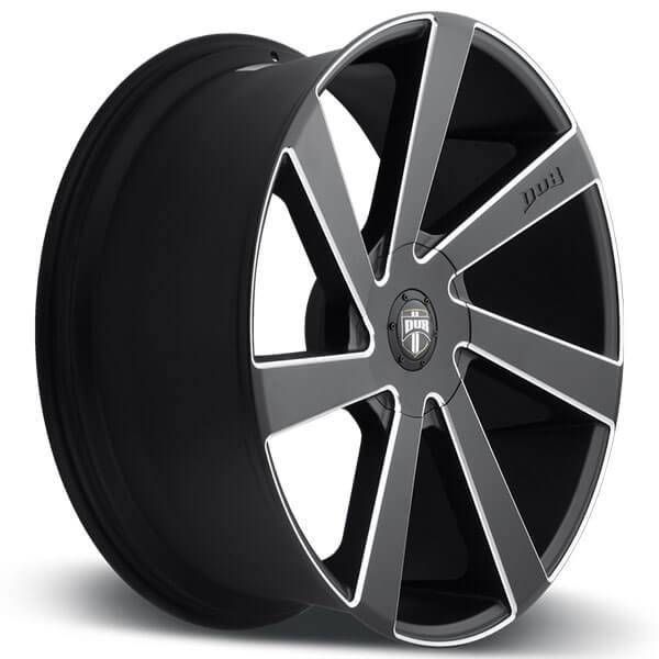 "22"" Dub Wheels Directa S133 Black Milled Rims"